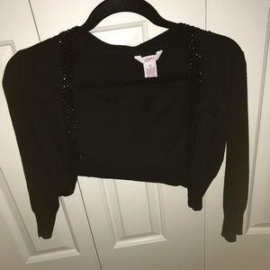 Black polka dot dress and black Sweater deal!